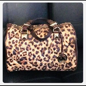 RARE NWOT Michael Kors Leopard Speedy Satchel